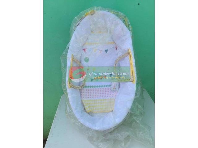 Baby Moses basket,wash basin & baby trolley in stock - 1