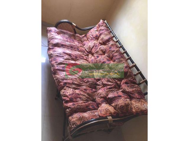 Cane chair and Bed for sale - 1