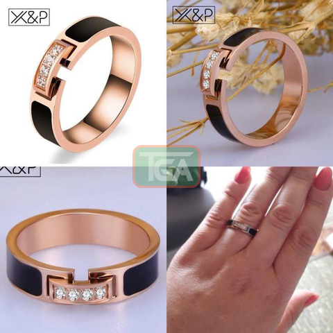 Rose Gold Promise Ring - 1
