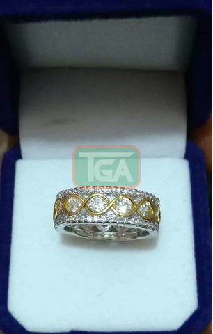 Yellow Gold Promise/Engagement/Wedding rings - 2