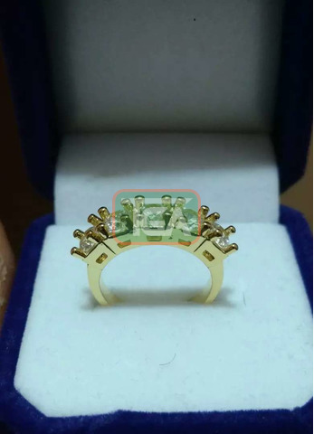 Yellow Gold Promise/Engagement/Wedding rings - 3