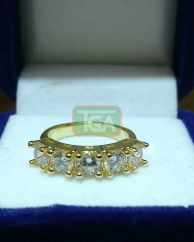 Yellow Gold Promise/Engagement/Wedding rings - 4