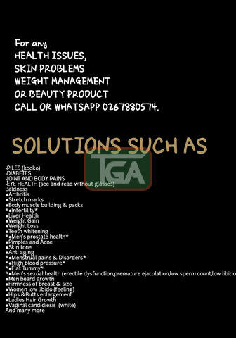 For any;  *HEALTH ISSUES,SKIN PROBLEMS,WEIGHT MANAGEMENT OR - 1