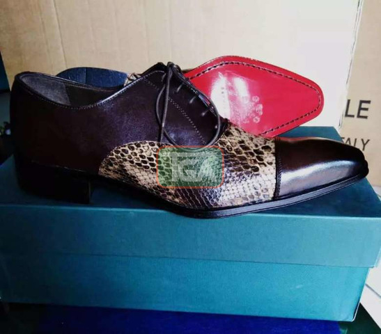 High quality Italian leather lace shoe - 1
