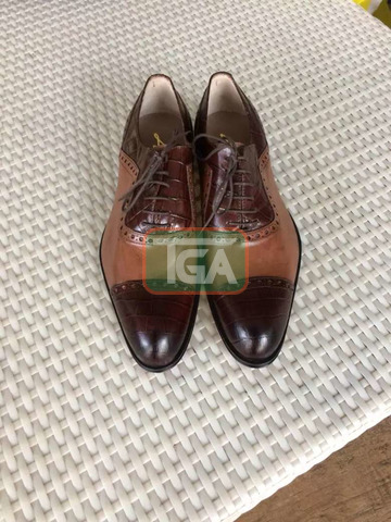 High quality Italian leather lace shoe - 3
