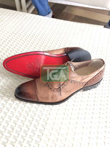 High quality Italian leather lace shoe - 4