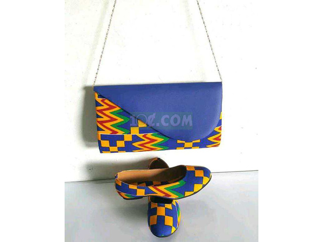 African Print Bag and Shoe - 2