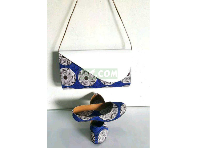 African Print Bag and Shoe - 3