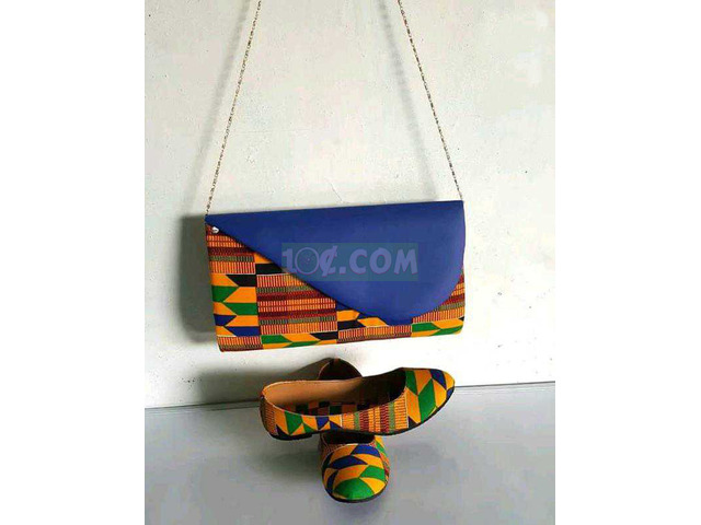 African Print Bag and Shoe - 4