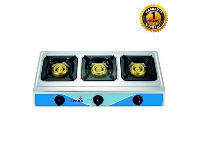 UK - Durable Quality TableTop Auto-Gas 3 BURNER - 1