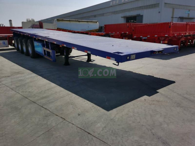 4-3 Axles Flatbed 40ft Container Trailer - 1