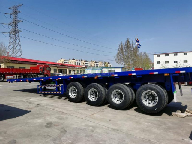 4-3 Axles Flatbed 40ft Container Trailer - 2