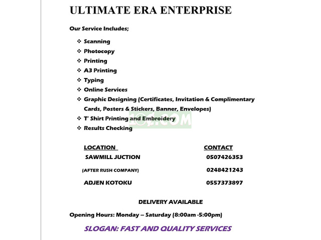Printing services - 1