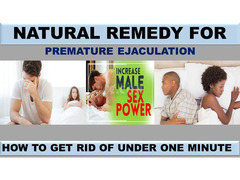 NATURAL REMEDY FOR PREMATURE EJACULATION